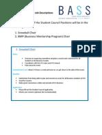 Snowball Chair & BMP Chair Job Descriptions