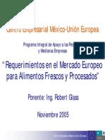 Requerimientos Alimentos Frescos Procesados Mercadoeuropeo