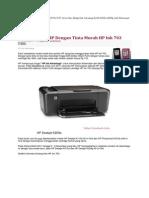 Black Ink Cartridge for HP Deskjet D730