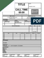 BMP Daily Call Sheet (Editable)