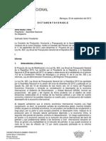1. Dictamen Ley de modificación a la Ley No. 823, Ley anual de PGR 2013