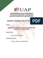 METODO MARSHALL PARA EL DISEÑO DE MEZCLAS