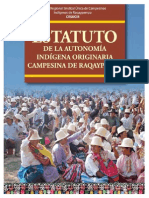 Estatuto Autonomia Indigena Originaria Raqaypampa