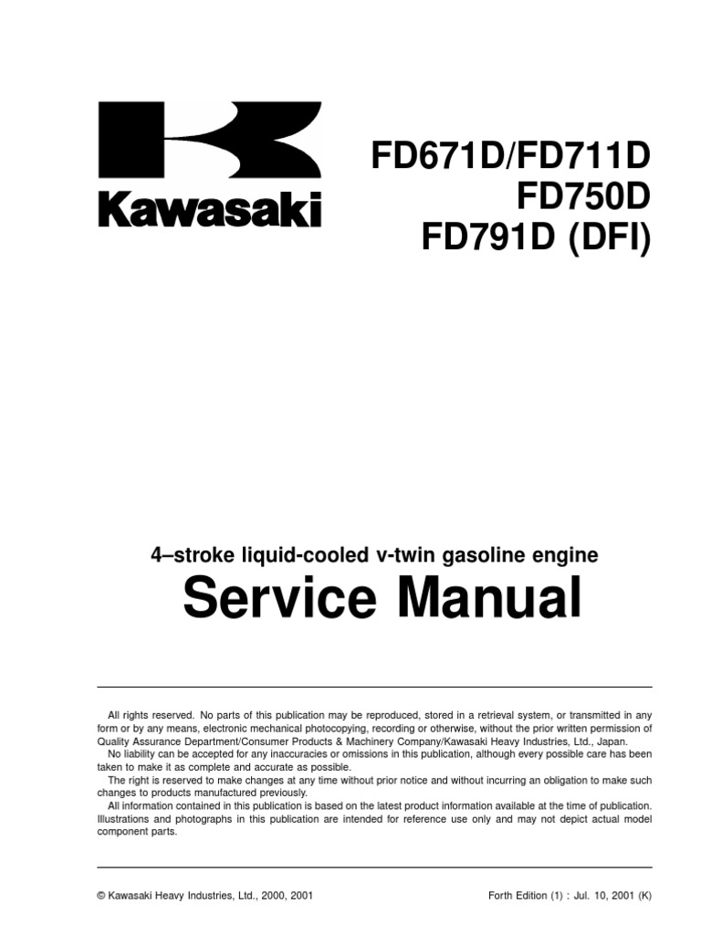 Kawasaki Engine 27hpfd750d1 Manual 61 Scag
