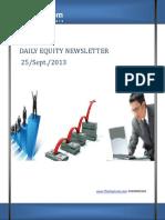 Equity Market updates 25-September