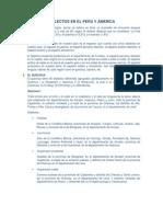 Dialectos en El Peru y America
