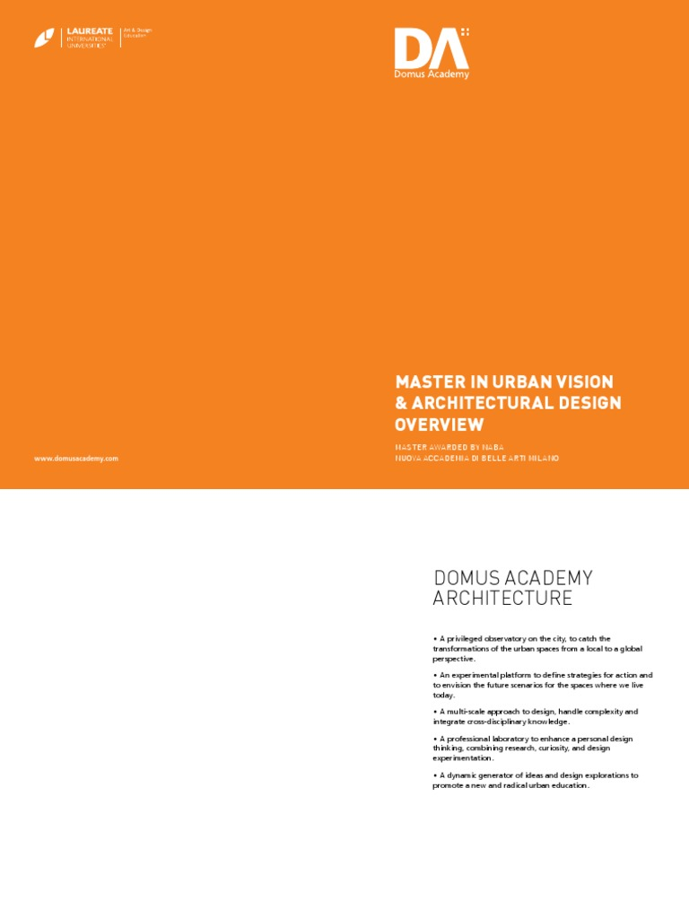 Nuova Accademia Del Design master program domus academy | design | academic degree