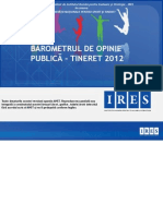 Barometru Tineret_Raport Grafic Si Interpretari