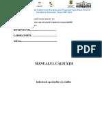 Model Manualul Calitatii Pentru Anatomopat