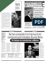 Versión impresa del periódico El mexiquense  25 septiembre 2013