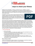 4 Fitness Tests