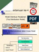 Model distribusi perjalanan