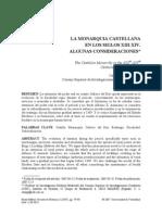ESTEPA DIEZ, Carlos (2007) La monarquía castellana en los siglo XIII-XIV. Algunas consideraciones