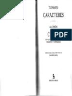 Teofrasto - Caracteres - Alcifron - Cartas