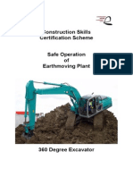 360 Excavator - Safe Operation