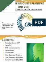 Erp Case study SAP AT CO-OPERATIVE BULK HANDLING  LTD.(CBH)