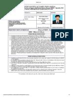 PandimaniAdmit Card