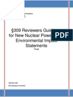 309 Reviewers Guidance for New Nuclear Power Plant EISs Pg