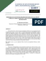 Performance of Integrated Process Using Fungal Strain Corialus Versicalor Mtc