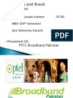 Advertising and Brand Management of PTCL Broadband