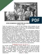 XVIII domingo post Pentecostés. Folleto pdf - bilingüe