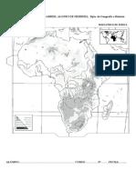 Mapa mudo de Africa físico
