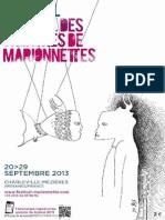 programme2013 festival des théâtres de marionnettes
