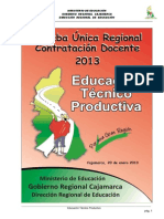 Cajamarca Cetpro 2013