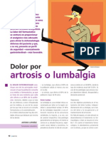 Dolor Por Artrosis o Lumbalgia