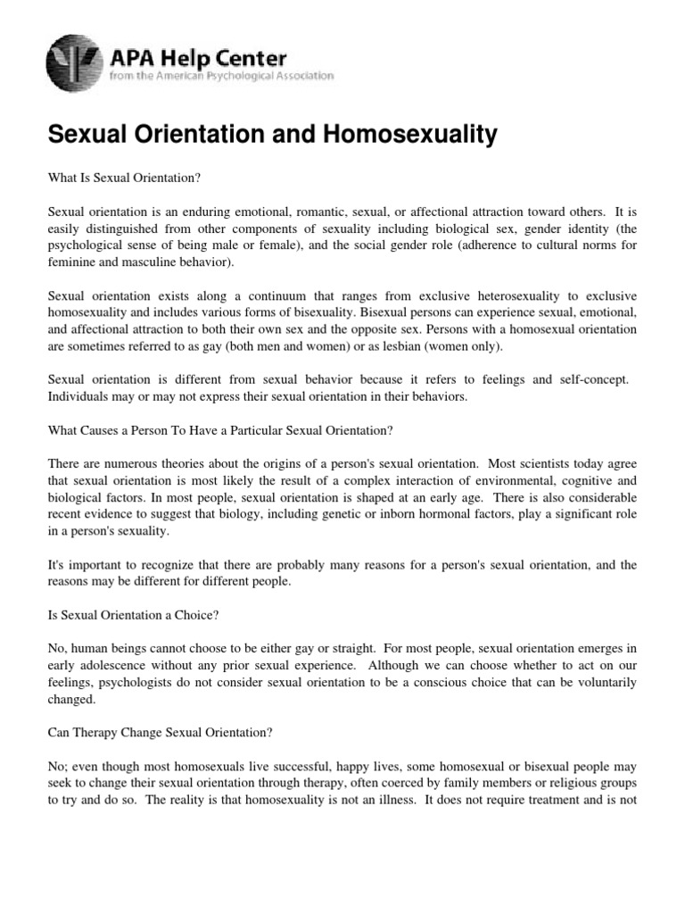How to recognize a gay: sexual orientation and behavior