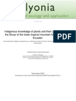 Lyonia-Conociemiento Indigena de Plantasy Su Utilizacion Entre Los Shuar Del Bosque Montano Tropicalen El Sure de Ecuador