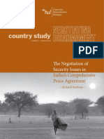 The Negotiation of Security Issues in Sudan's Comprehensive Peace Agreement