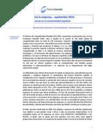 Avances en la competitividad española (Así está la empresa... septiembre 2013)