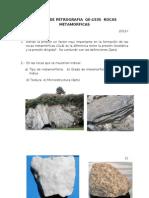 EXAMEN Rocas Metamorficas