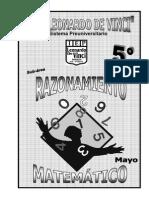 2. MAYO– RAZONAMIENTO MATEMÁTICO - 5TO fraccines