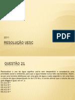 RESOLUÇÃO UESC 2011