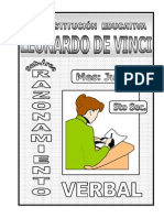 3. JUNIO – RAZONAMIENTO VERBAL - 5TO