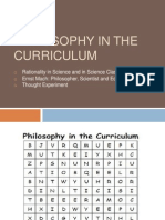 Philosophy in the Curriculum