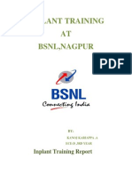 bsnl inplant training report