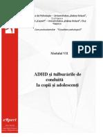 ADHD Si Tulburari de Conduita