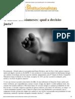 O dilema dos siameses_ qual a decisão justa_ – Os Constitucionalistas
