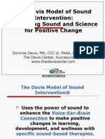 The Davis Model of Sound Intervention Combining Sound and Science for Positive Change
