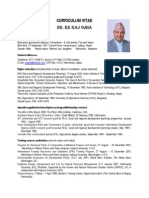 Dr E.R. Ojha's Updated CV - 25 July 2013