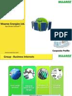 Waaree Corporate Profile