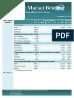 Weekly Market Briefing (September 23, 2013)