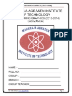 Engineering Drawing Lab Manual
