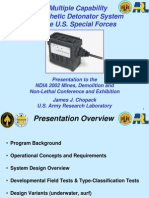 A Multiple Capability Sympathetic Detonator System for the U.S. Special Forces