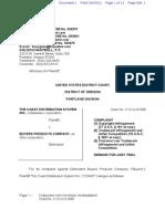 Coast Distribution Copyright Complaint