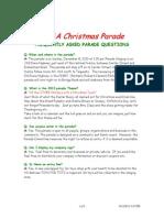 2013 Christmas Parade Q&A
