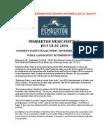 Pemberton Music Festival_Press Release
